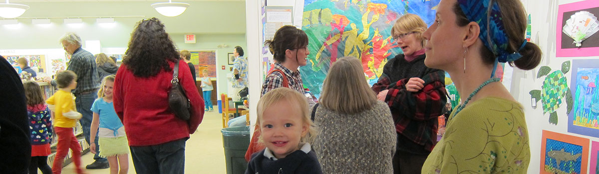 Student Art Opening, Blue Hill Library