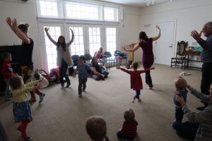 Toddlers at play-group yoga