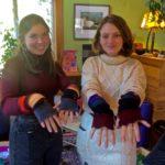 Anwen Hudson and Lilli Robbins - wrist warmers