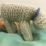 Knitted lamb by 1st grader Magnus Hansen