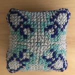Cross-stitch by 4th grader Kaira Hauser