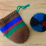 Crochet pouch by 3rd grader Clancy Chittenden and Knitted Ball by 2nd grader Landon Watts