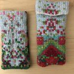 Cross-stitch by 5th graders Kasper Hansen and Ezri Budet