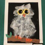 PreK-K 2D Relief Snowy Owl Collage