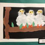 PreK-K Sponge Collage Snowy Owl