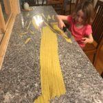 Louise making pasta
