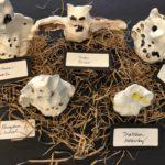 1/2 Ceramic Snowy Owls