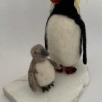 "Lyn Mayewski, ""Rockhopper Penguin & Chick"" SOLD"