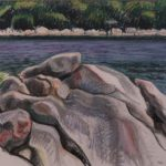 "Wendy Lewis, ""Boulders at Curtis Cove"""