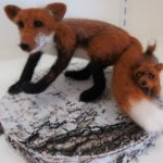 "Lyn Mayewski, ""Fox Mama & Kit"" SOLD"