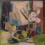 "Rosie Moore, ""Pears & Green Stripes"""