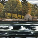 "Sarah Faragher, ""September by the Falls Bridge, Blue Hill, Maine"""