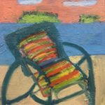 """Beached Chair,"" Jill Finsen; Oil on Board; $350"