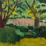 """Pink Field,"" Jill Finsen; Oil on Canvas; $850"