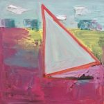 """Sail,"" Jill Finsen; Oil on Linen; $200"