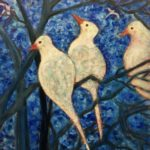 """""""Doves by the Bay,"""" Acrylic on canvas"""