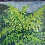 """""""Ferns, Summer,"""" Watercolor"""