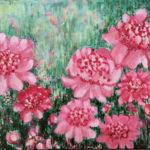"""""""Peonies in Sun,"""" Watercolor"""