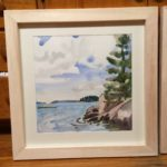 """Melissa Rioux, """"First Warm Day,"""" watercolor, 24x24 (16x16), $750"""