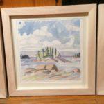 """Melissa Rioux, """"Freeze,"""" watercolor, 24x24 (16x16), $750"""