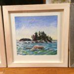 "Melissa Rioux, ""Islands,"" watercolor, 24x24 (16x16), $750"