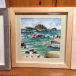 "Melissa Rioux, ""Choppy Waters,"" watercolor, 24x24 (16x16), $750"