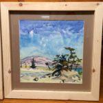 "Melissa Rioux, ""The Mountain,"" watercolor, 24x24 (16x16), $750"