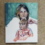 "Melissa Rioux, ""Self Portrait,"" egg tempera, NFS"