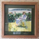 "Melissa Rioux, ""Louise,"" watercolor, 24x24 (15x15), $500"