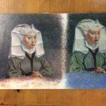 "Melissa Rioux, ""In the Company of Women: A van der Weyden Study,"" egg tempera, 14x9"