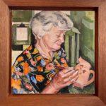 "Penny Ricker, ""Norma at Rowantrees,"" egg tempera, NFS"