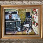 "Penny Ricker, ""Olson Kitchen,"" oil, 14x11, $500"