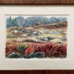 "Penny Ricker, ""Brooksville,"" watercolor, 10x7, $350"