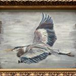 "Penny Ricker, ""Great Blue Heron,"" gouache, 12x9, $250"
