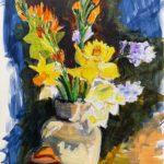 "Penny Ricker, ""Sunshine on a Cloudy Day,"" acrylic, 9x12, $250"