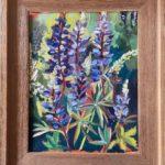 """Penny Ricker """"Lupine,"""" oil, 11x14, $400"""