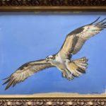 "Penny Ricker, ""Osprey Over The Bagaduce,"" gouache, 12x9, $250"
