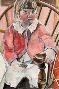 """Penny Ricker, """"Maggie Pearl at Nana's,"""" egg tempera,NFS"""