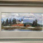 "Penny Ricker, ""Pumpkin Island Light,"" watercolor, 8x4, $400"